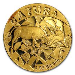 1997 South Africa 1 oz Proof Gold Natura 100 Rand Buffalo