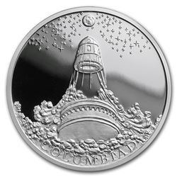 2018 Niue 1 oz Silver World of Jules Verne Moon Cannon Columbiad