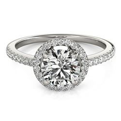 1.15 ctw Certified VS/SI Diamond Halo Ring 18k White Gold