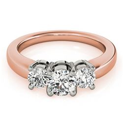 2 ctw Certified VS/SI Diamond 3 Stone Solitaire Ring 14k Rose Gold