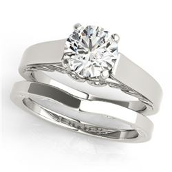 0.75 ctw Certified VS/SI Diamond 2pc Wedding Set 14k White Gold