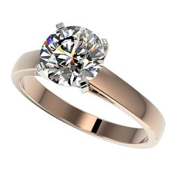 2.05 ctw Certified Quality Diamond Engagment Ring 10k Rose Gold