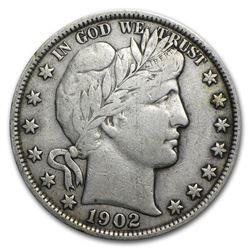 1902 Barber Half Dollar VF