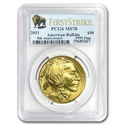2011 1 oz Gold Buffalo MS-70 PCGS (FirstStrike®)