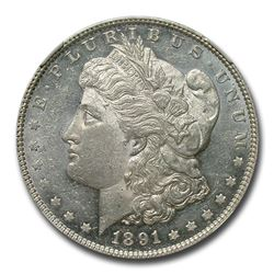 1891 Morgan Dollar MS-60 PL NGC