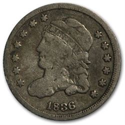 1836 Capped Bust Half Dime Large 5¢ VG