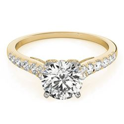 0.75 ctw Certified VS/SI Diamond Solitaire Ring 14k Yellow Gold