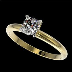 0.50 ctw Certified VS/SI Quality Cushion Cut Diamond Ring 10k Yellow Gold