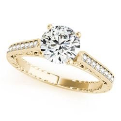 0.65 ctw Certified VS/SI Diamond Antique Ring 18k Yellow Gold