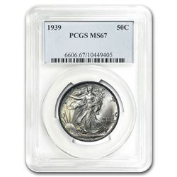 1939 Walking Liberty Half Dollar MS-67 PCGS