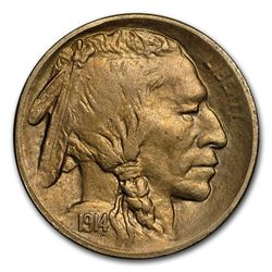 1914-S Buffalo Nickel AU