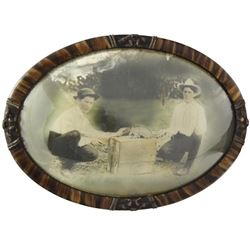 Armadillo Cowboys Bubble Frame Photograph