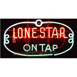 Lone Star On Tap Neon Early Texas Beer Sign