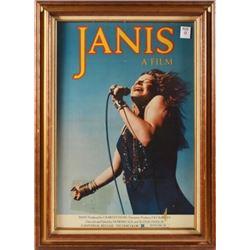 """Janis Joplin """"Janis"""" Movie Poster Framed"""