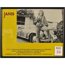 "Janis Joplin ""Janis"" Lobby Card Framed"