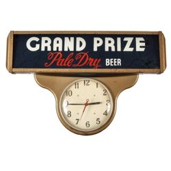 Grand Prize Beer Advertising Clock