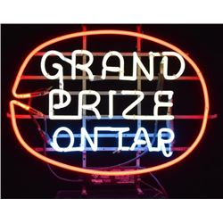 Grand Prize On Tap Neon Beer Sign