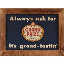 Grand Prize Beer Sign