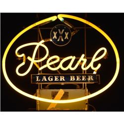 Pearl Lager Beer Neon Sign