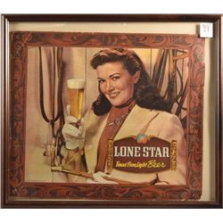 Lone Star Beer Vintage Cardboard Sign