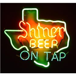 Shiner Beer On Tap Texas Neon Sign