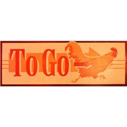 Threadgill's Chicken To Go / Custom Omelet Sign