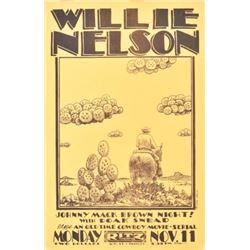 Willie Nelson Ritz Theater Poster By Jim Franklin