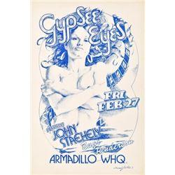 Gypsee Eyes Armadillo World Headquarters Poster
