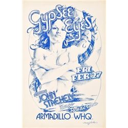 Gypsee Eyes Armadillo World Headquarters Poster