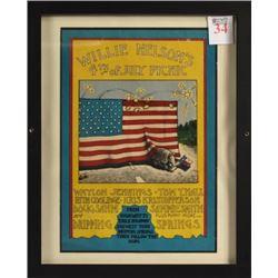 Willie Nelson 4th Of July Picnic Poster JFKLN