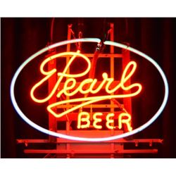 Pearl Beer Neon Sign