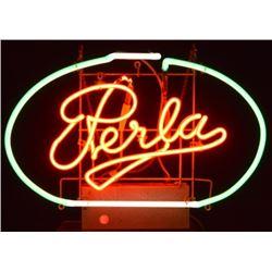 Perla Beer Neon Sign