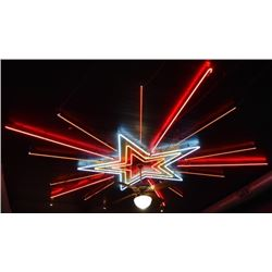 Large Custom Neon Star on Threadgill's Ceiling