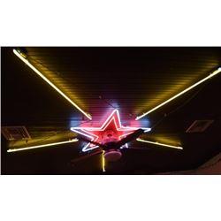 Small Custom Neon Star on Ceiling