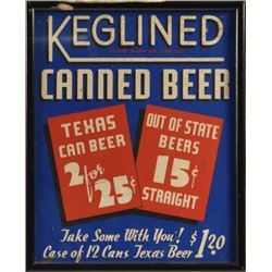 Texas Canned Beer / Out of State Beer Sign