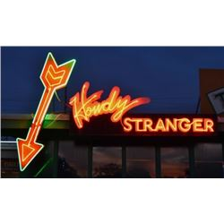 Howdy Stranger Neon Sign