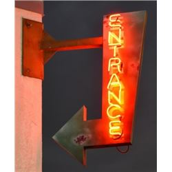 Entrance Neon Arrow Sign
