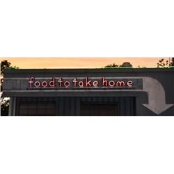 Food To Take Home Neon Sign