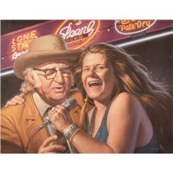 Threadgill and Janis Joplin Painting by Sam Yeates