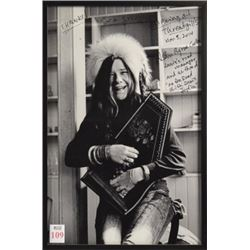 Janis Joplin Photo Autographed by her Manager