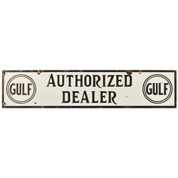 Gulf Authorized Dealer Porcelain Sign