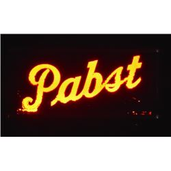 Pabst Beer Lighted Sign