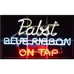 Pabst Blue Ribbon On Tap Neon Sign