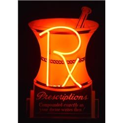 Rx Prescriptions Pharmacy Neon Sign
