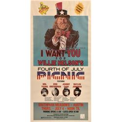 Willie Nelson's 4th of July Picnic Poster