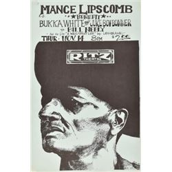 Mance Lipscomb Ritz Theater Poster By Jim Franklin