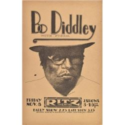 Bo Diddley Ritz Theater Poster By Jim Franklin '74