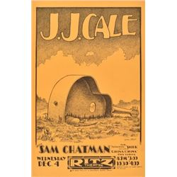 J.J. Cale Ritz Theater Poster By Jim Franklin