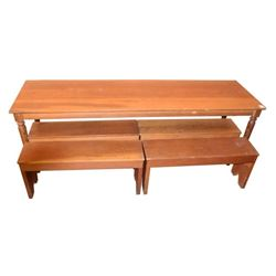8 ft Table & 4 Benches