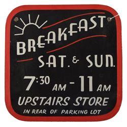 Threadgill's Breakfast Painted Wood Sign